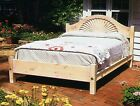 Santa Fe Shell Bed, King Size, USA Hand Made Reproduction, Solid Pine