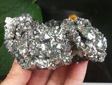 188g Helvite & New Metallic Arsenopyrite on Magnetite B088 InnerMongolia China
