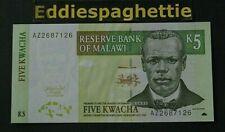 malawi 5 kwacha 1-3-2004  UNC P-36b