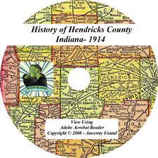 1914 History & Genealogy of HENDRICKS County Indiana IN