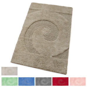 Bathroom Rug 100% Cotton Soft Absorbent Down Bed Elegant Mod.spirale