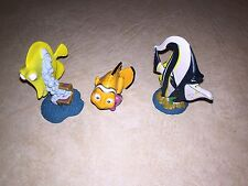 "Disney Finding Nemo Toy Figures Or Cake Toppers Set Of 3 Nemo Gil Bubbles 3"" 4@"