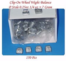 150 Pcs 0.25 oz 1/4 oz P Style Steel Wheel Weight, Clip on balancing