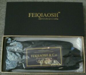 Brand New in Box Feiqiaosh Lambskin Leather Gloves Size Large  Cashmere lining