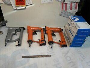 Job lot Atro & Senoc pneumatic staple guns & staples Tacker upholstery Fixing