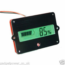 12V BATTERY TESTER CAPACITY MONITOR LCD PANEL MOUNT LEAD-ACID LITHIUM 24/36/48V