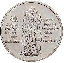 10 Mark Gedenkmünze, 40 Jahre Befreiung vom Faschismus