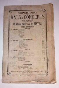 Spartito - Bals & Concert de Paris - Se Oliver Métra - Henri Tellier, metà '800