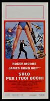 Cartel Sólo Per I Tus Occhi Agente Secreto 007 Roger Moore James Boond N16