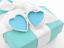 Tiffany & Co Silver Large Huge Heart Locket Necklace Pendant Charm Box Included