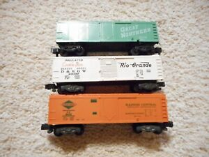 S SCALE AMERICAN FLYER #802, 24039 COOKIE BOXCAR & 24422 GREAT NORTHERN REFFER