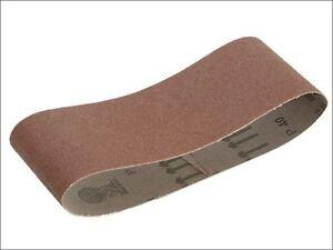 Faithfull - Cloth Sanding Belt 400 x 60mm 80g (Pack of 3) -