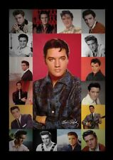 ELVIS PRESLEY PORTRAIT COMPOSITE 13x19 FRAMED GELCOAT POSTER MUSIC LEGEND ICON!!