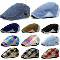 Men's Plaids Duckbill Newsboy Gatsby Hat Golf Driving Cabbie Beret Ivy Hats Cap