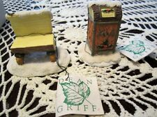 Vintage Charming Tails MAILBOX & BENCH - ACCESSORIES Dean Griff for SILVESTRI