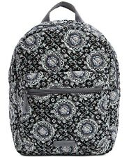 NWT Vera Bradley Iconic Leighton MINI Backpack Charcoal Medallion/Silver $69.9