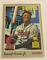 2019 Topps Heritage Baseball 1970 Sticker - Ronald Acuna Jr - Atlanta Braves
