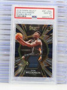 2019-20 Select Zion Williamson Sparks Rookie Jersey Relic PSA 10 GEM MINT I99