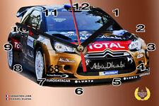 HORLOGE MURALE LOEB, CITROEN DS3 WRC -01M