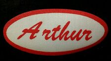 Arthur Vintage 1960s Cursive Name Patch Uniform Shirt Iron On Rare Vhtf Bronx Ny