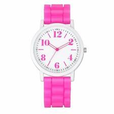 Fashion Ladies Womens Silica Jelly Gel Band Quartz Sports Analog Wrist Watch US