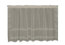 "Heritage Lace ECRU SHEER DIVINE Window Tier 60""W x 30""L - Made in USA!"