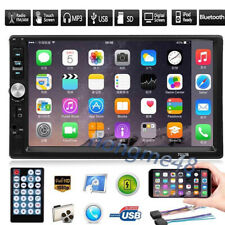 7''Double 2DIN Car Stereo MP5 MP3 Player AUX Android/IOS Mirror Link TouchScreen
