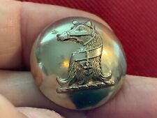 Bear'S Head Erased, Muzzled & Collared 24.3mm S/P Livery Button Firmin 20th C.