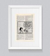 PEANUTS Charlie Brown Snoopy COMPRARE DISCHI VINTAGE Dizionario Libro Stampa Wall Art
