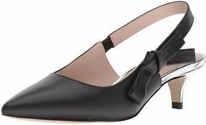 Nanette Lepore Womens Rhona Pointed Toe SlingBack Classic Pumps, Black, Size 7.0