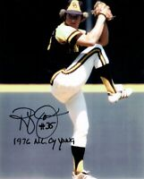 Randy Jones Hand Signed Autographed 8X10 Photo 1976 NL Cy Young Wind Up COA