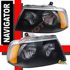2003-2006 Lincoln Navigator Black OE Style Headlights Lamps RH + LH