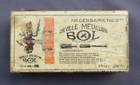 Boite publicitaire CHEVILLE MÉTALLIQUE BOL No 2 bis old french box