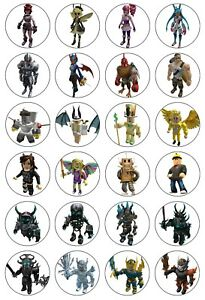 24x Roblox video game Edible wafer Cupcake Cake Toppers Decorations 4cm (uncut)