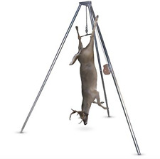 Deer Skinning Rack Field Dressing Stand Cleaning Station Hoist Lift Portable
