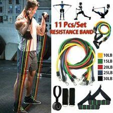 11Pcs Resistance Bands Workout Exercise Crossfit Yoga Fitness Training Tubes