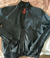 Men's Black Windbreaker Jacket designed in Italy Size Medium