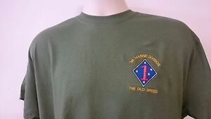 USMC UNITED STATES MARINE CORPS 1st MARINE DIVISION T-SHIRT
