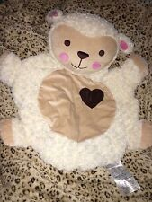 BABY SHOWER GIFT SOFT ROUND LG CREAM PINK CHEEKS LAMB PLAY RUG BLANKET NWOT