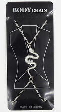 New Silver Tone Body Chain with Viper Snake #BC1