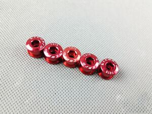 6.5mm 5pcs Litepro Chainring Bolts MTB Road Bike Single Chain Ring Tooth Nail
