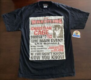 """""""Instant Classic"""" Christian Cage TNA Impact Wrestling Official T-Shirt Medium"""