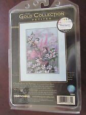 Dimensions Gold Collection Petites Chickadees in Spring Counted Cross Stitch Kit
