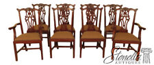 L45864EC: Set Of 8 EJ VICTOR Chippendale Mahogany Dining Room Chairs