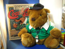 Authenic Lands' End Gund Coach Paul Bear Limited Edition 1991 Plush With Box