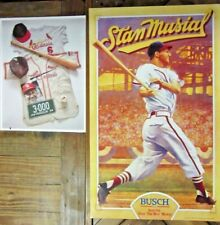 Lot of 2-Stan Musial St. Louis Cardinals Anheiser Busch Poster+collage Print