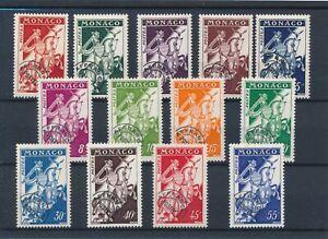 [30875] Monaco 1954/59 Good precancel set Very Fine MH stamps