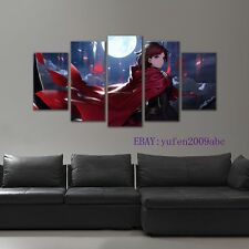 Large Framed GAME RWBY  Ruby Rose  Abstract canvas print in 5 pieces