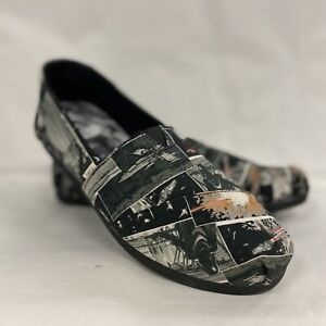TOMS x LUCASFILM Star Wars Women's Canvas Slip-On Shoes - Darth Vader NEW NWT