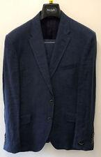 Completi e abiti sartoriali da uomo blu in lino